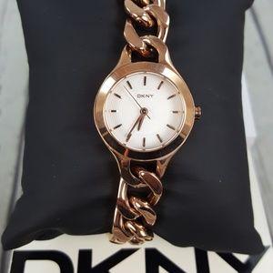 DKNY Round Rose-Gold Bracelet Watch